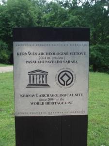Kernavé Unesco lituanie