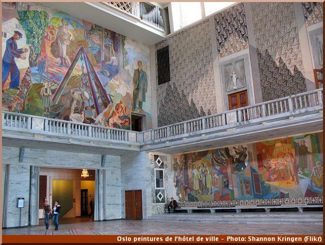 Oslo mairie peintures