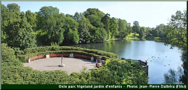 Jardin d'enfants du parc Vigeland Oeuvre de Gustav Vigeland