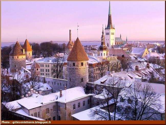 Tallinn estonie en hiver
