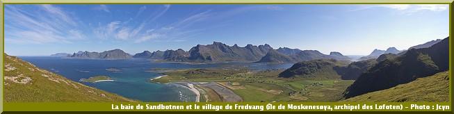 baie Sandbotnen Fredvang norvege
