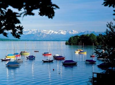 Roseninsel pres du lac Starnberg en Haute Bavière