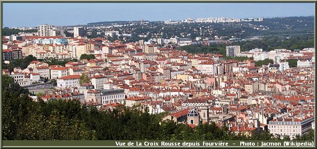 lyon Croix-Rousse vue de Fourvière