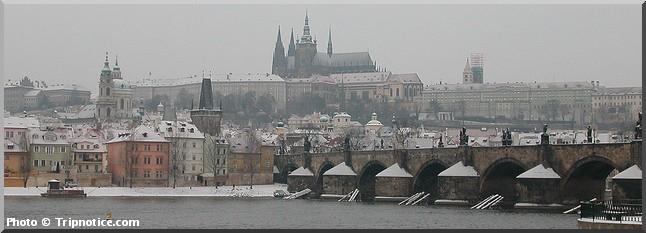 noel prague sous la neige