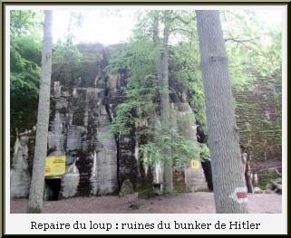 repaire du loup Wolfsschanze ruine bunker hitler