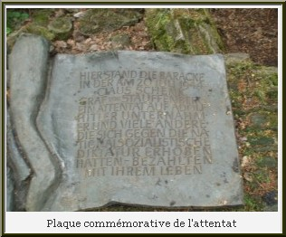 repaire du loup plaque commemorative attentat hitler