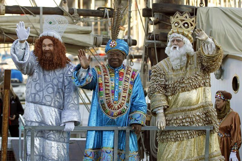 rois mages à barcelone lors de l'épiphanie