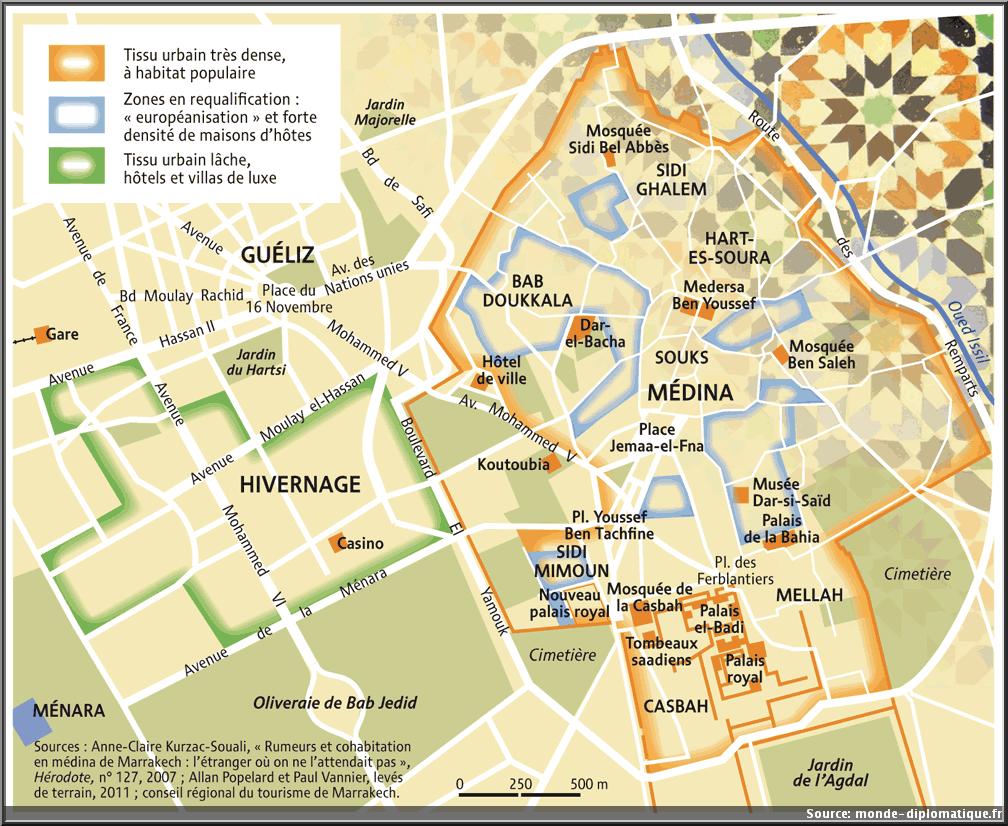 carte Marrakech plan