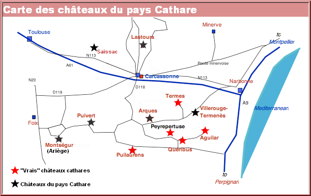 chateaux cathares carte aude