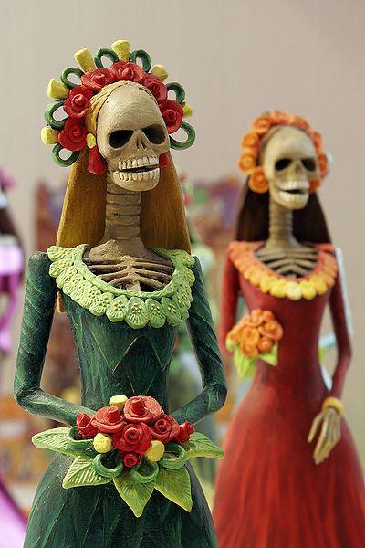 catrinas figurines fete des morts mexique