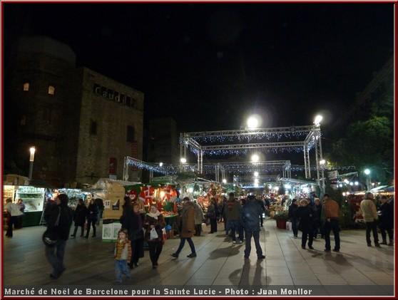 marché de noel barcelone 2012