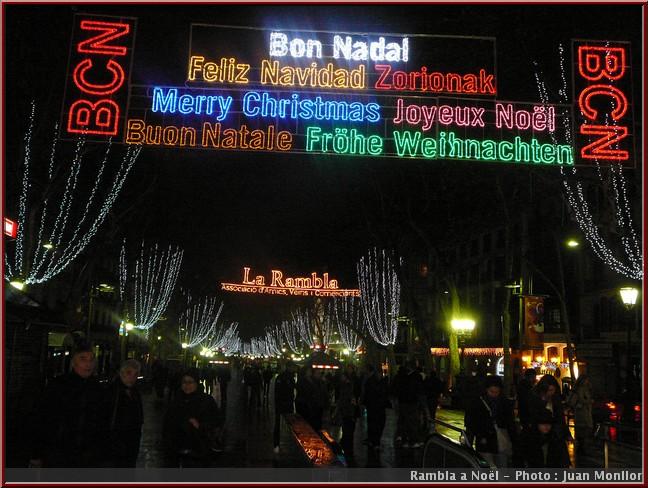 noel barcelone  la rambla illuminations