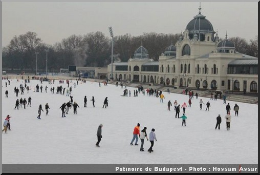 noel budapest patinoire