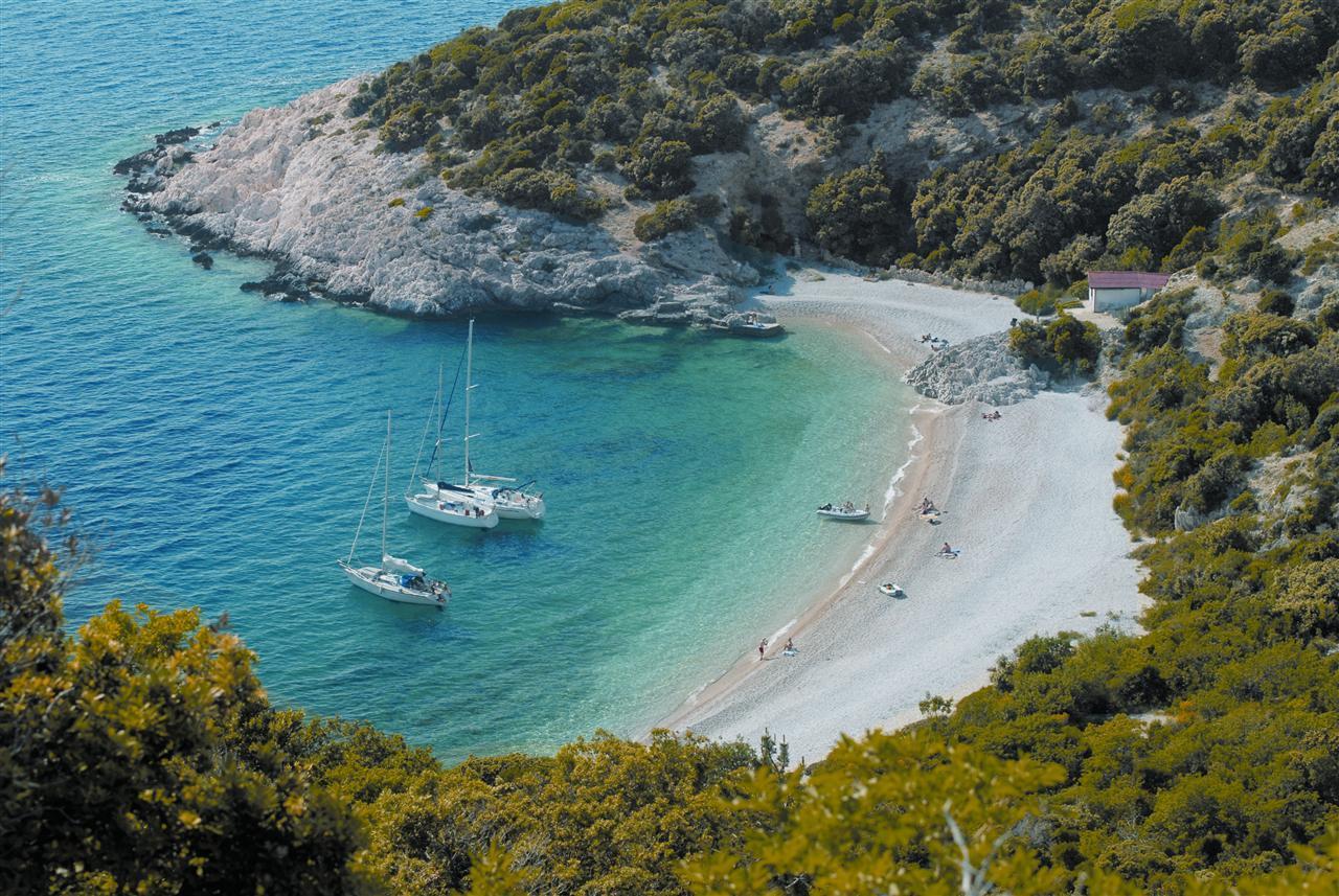 plage de Lubenice sur l'île de Cres