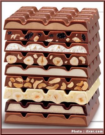 tablettes ritter sport chocolat