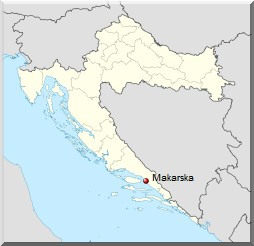 carte makarska croatie
