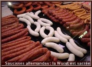 saucisses allemandes wurst