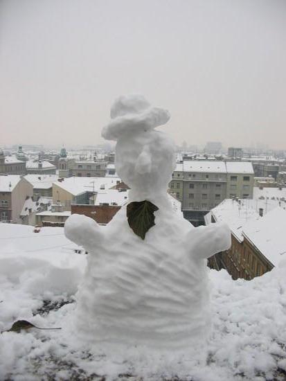 zagreb bonhomme de neige