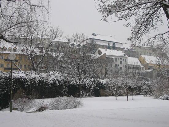 zagreb sous la neige
