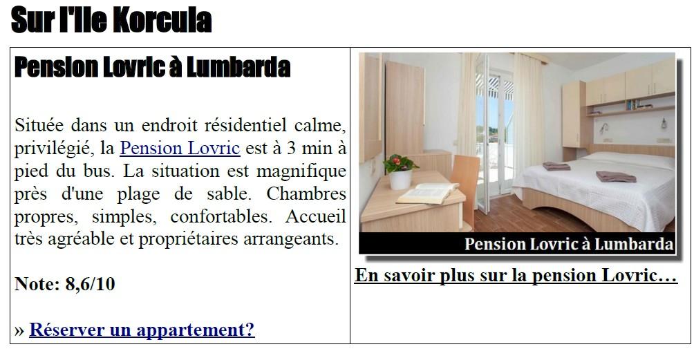 Pension lovric Lumbarda
