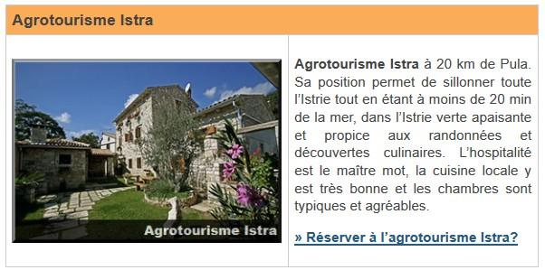 Agrotourisme Istra près de Pula