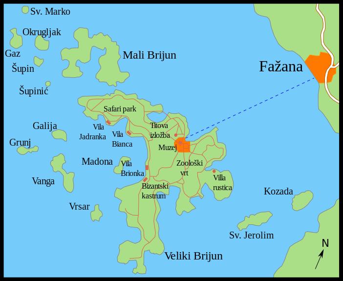 archipel iles brijuni