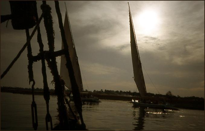 felouque nil course bateaux