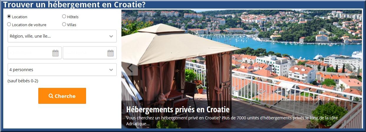 hebergement croatie