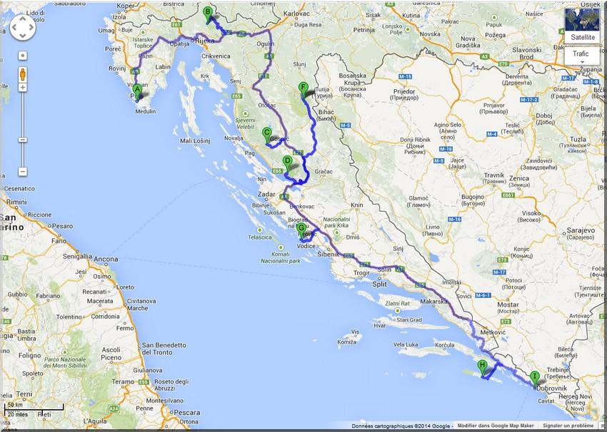 itineraire croatie parcs nationaux
