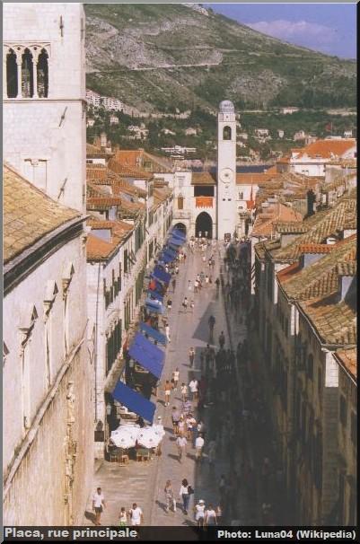 Dubrovnik placa rue principale