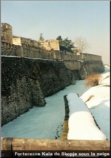 Forteresse Kala Skopje sous la neige