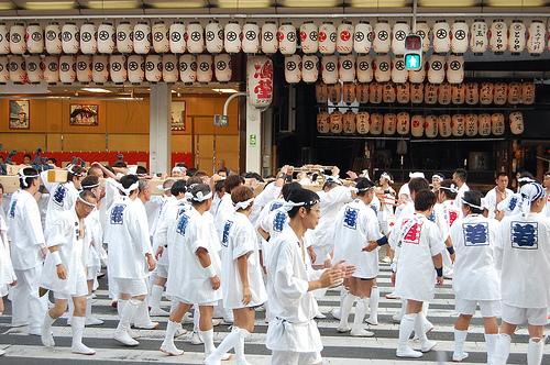 Hanagasa gion matsuri kyoto defile