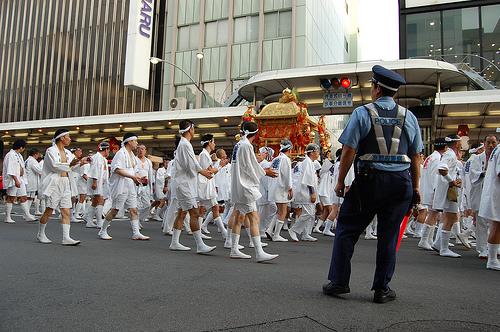 Hanagasa gion matsuri kyoto police