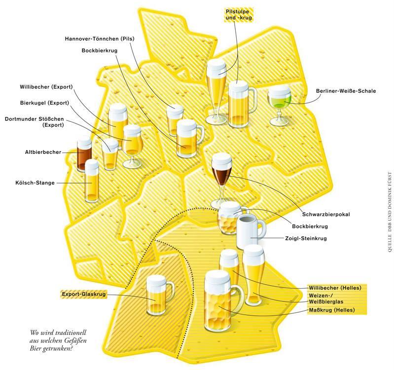 bieres en allemagne carte
