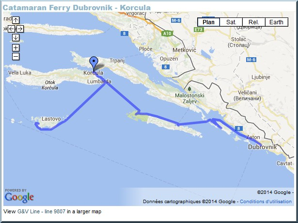 catamaran dubrovnik korcula Iles en Croatie : Quelle île croate faut il absolument visiter?