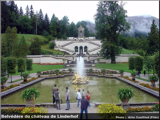 chateau linderhof belvedere fontaine