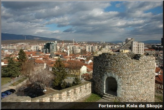 forteresse Kala Skopje Macédoine