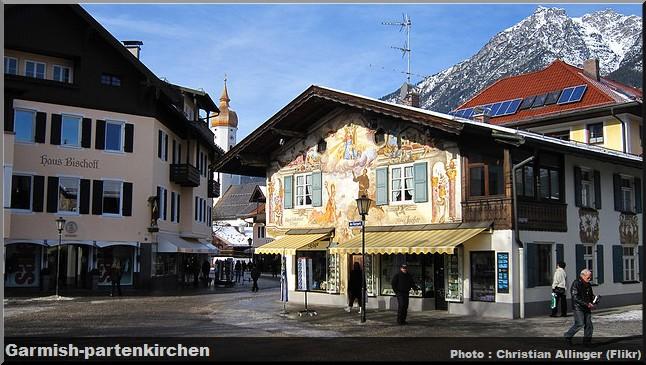 garmisch partenkirchen maison fresque