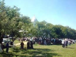 hram procession monastere roumain