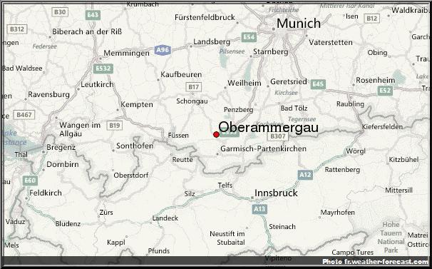 Oberammergau carte baviere