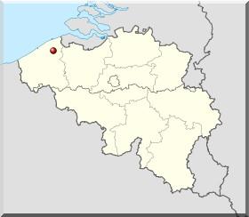 bruges brugge carte belgique