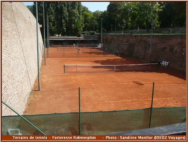 forteresse kalemegdan terrains tennis