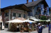 oberammergau maisons facades peintes
