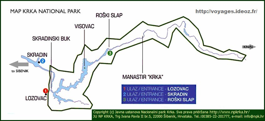 plan krka national park