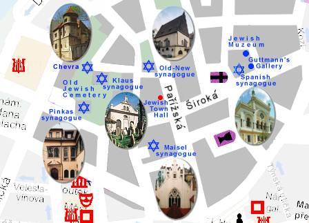 plan prague quartier juif