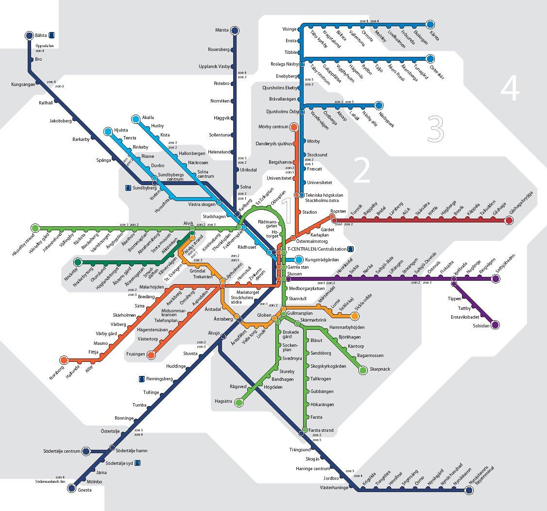 stockholm transports tunnelbana