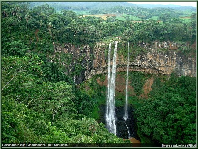 Cascade de Chamarel ile Maurice