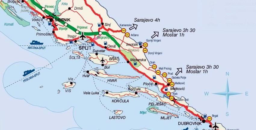 carte croatie bosnie douanes et frontières