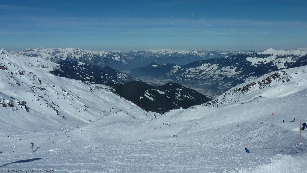 Alpes autrichiennes à Zillertal au Tyrol
