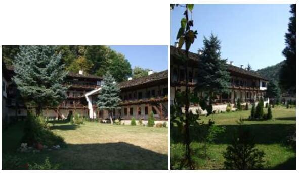 Arcades du monastère de Trojan